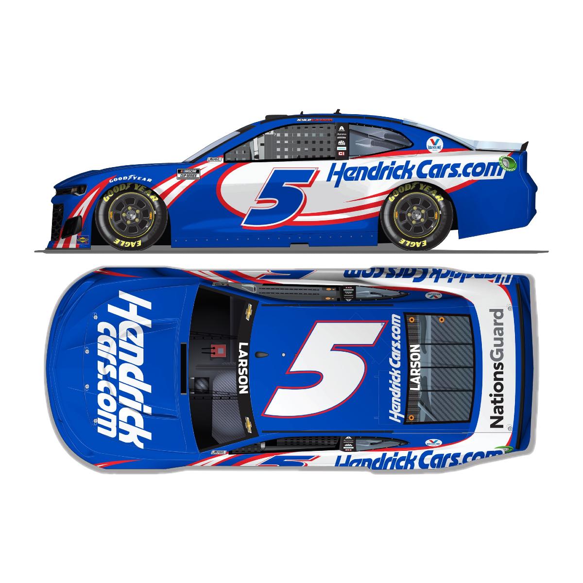 Kyle Larson #5 2021 HendrickCars.com Chevrolet 1:24 ELITE Die-Cast