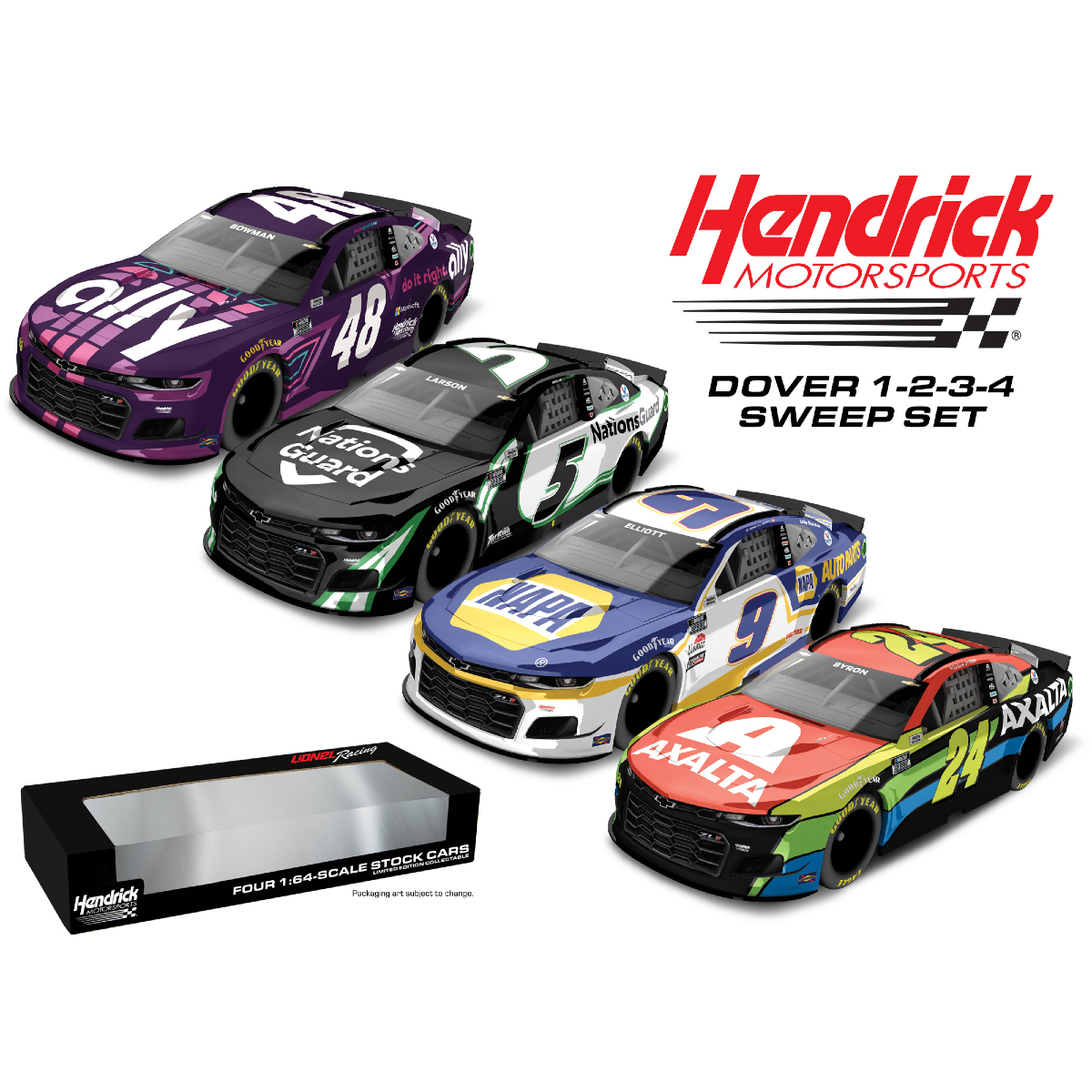 Hendrick Motorsports 2021 Dover Top 4 Sweep Set 1:64 Scale Die-Casts
