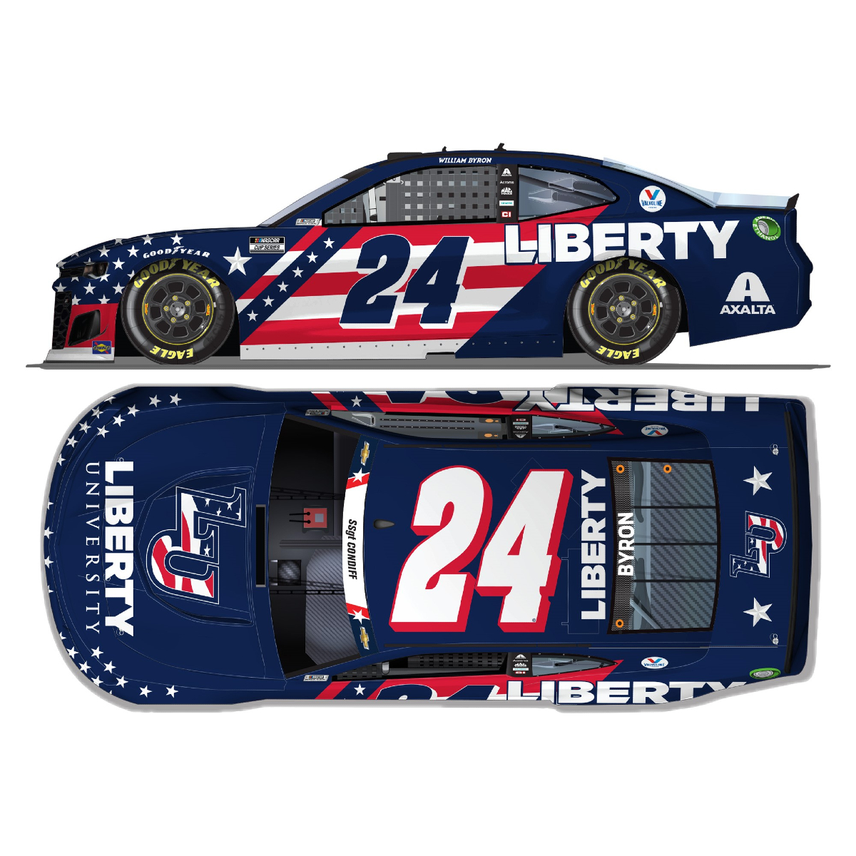 Autographed William Byron Charlotte Speedway Liberty University 1:24 HO Die-Cast