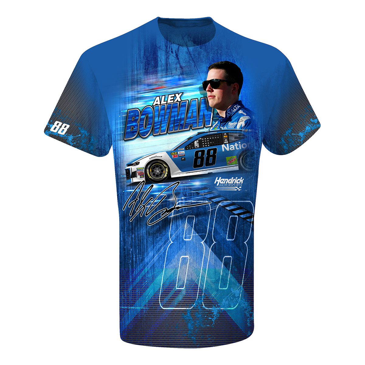Alex Bowman #88 Nationwide Total Print T-shirt