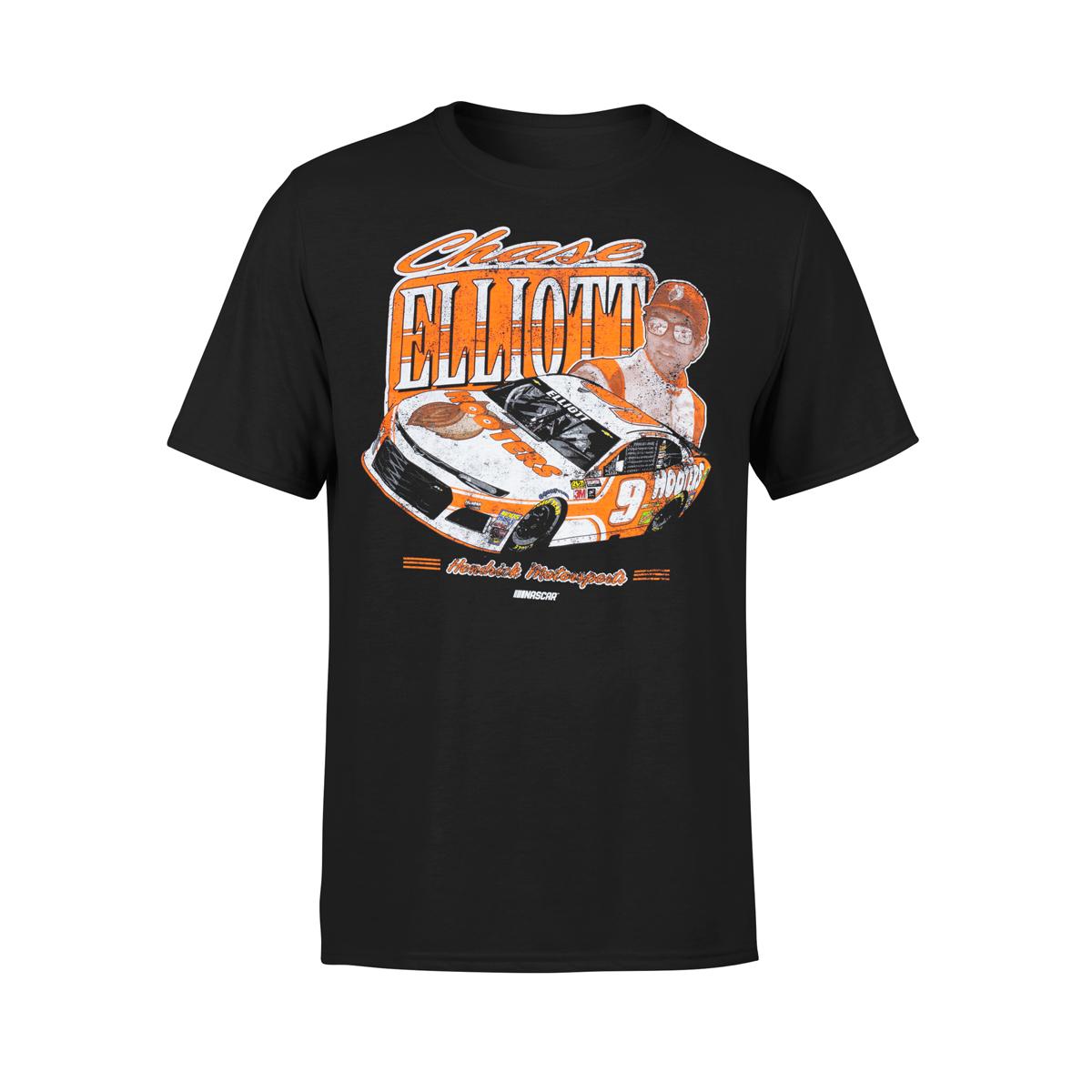 Chase Elliott Hooters Vintage Black T-shirt