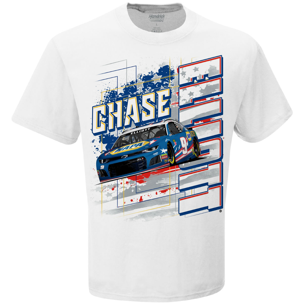 Chase Elliott #9 2019 NASCAR Stars and Stripes Daytona T-shirt