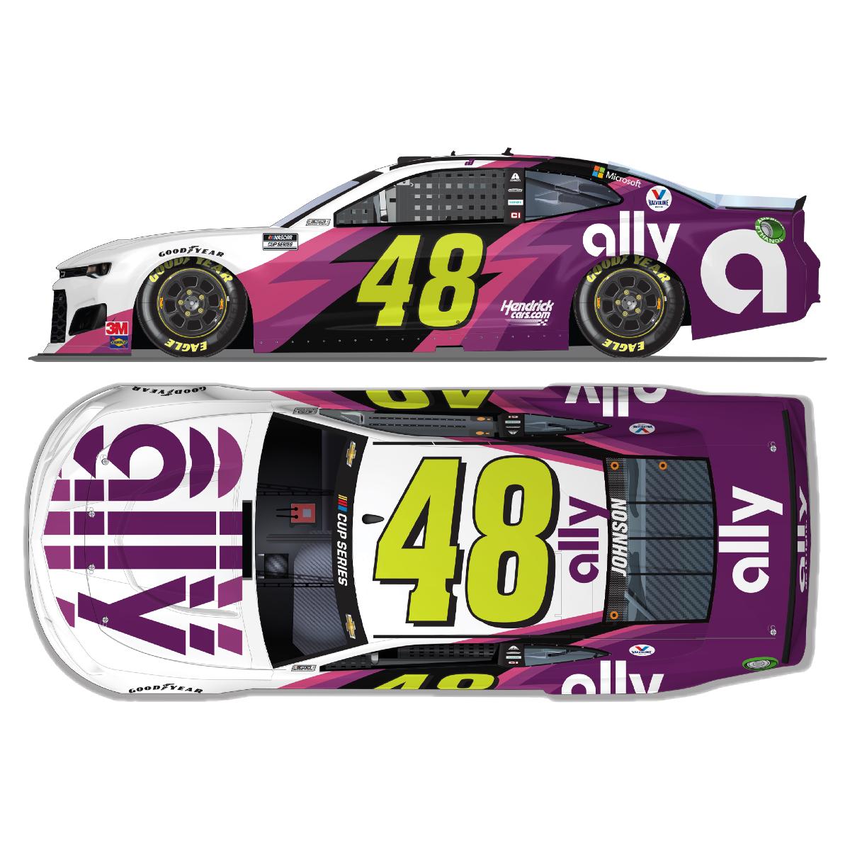 Jimmie Johnson No. 48 Ally Texas NASCAR Cup Series Elite 1:24 - Die Cast