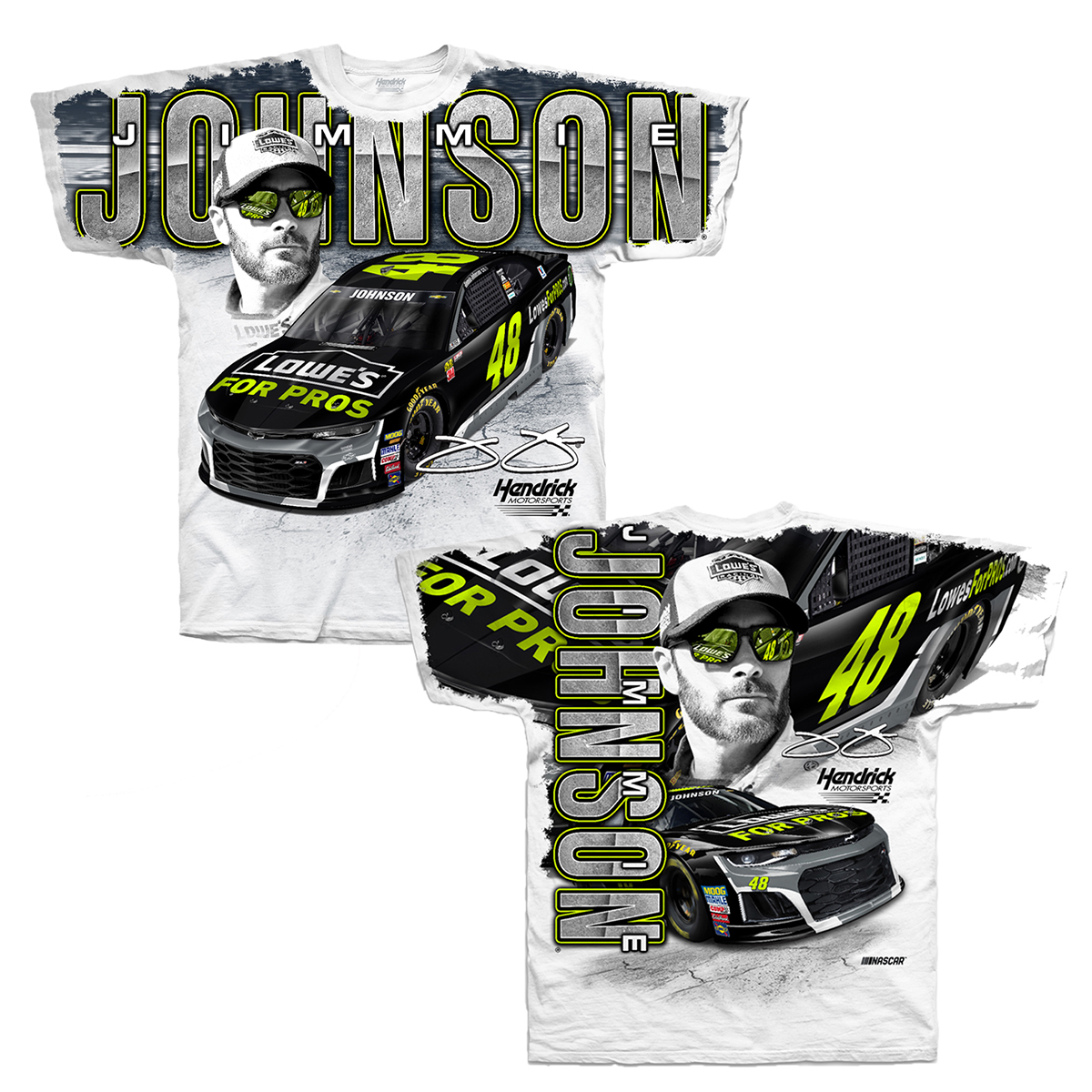 Jimmie Johnson #48 2018 Lowe's Total Print T-shirt