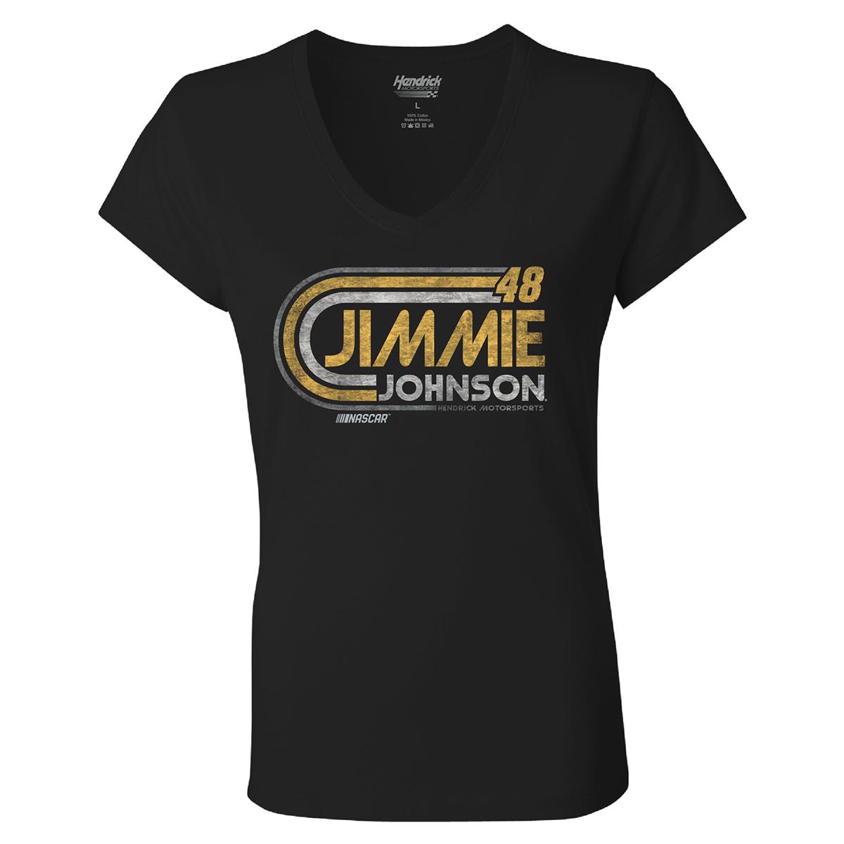 Jimmie Johnson #48 Ladies Retro 1-Spot T-shirt