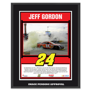 Jeff Gordon 2014 NASCAR Sprint Cup Series AAA 400 Race Win Sublimated 10.5'' x 13'' Plaque