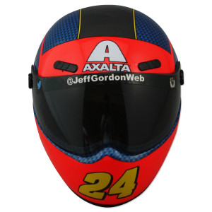 Jeff Gordon #24 Commemorative Mini Rainbow Throwback Replica Helmet