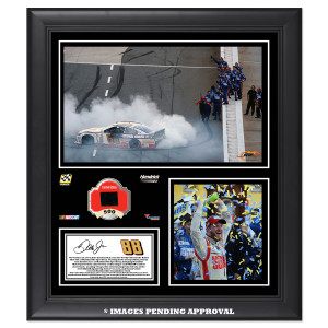 Dale Jr. 2014 NASCAR Sprint Cup Series Martinsville Race Win Framed 15'' x 17'' Collage With -Used Tire