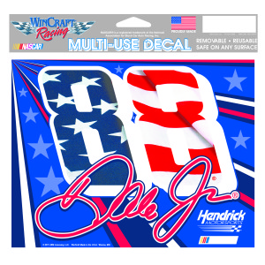 "Dale Earnhardt Jr #88 Patriotic Multi-Use Decal - 5"" x 6"""