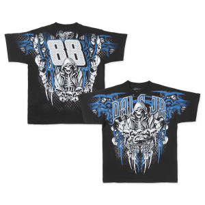 Dale Jr Helmet Skull Adult Total Print T-shirt