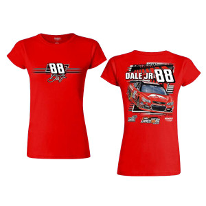 Dale Jr #88 2017 Homestead/Miami Axalta Ladies Car T-shirt