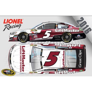 Kasey Kahne 2016 #5 LiftMaster 1:64 Nascar Sprint Cup Series Scale Die-Cast