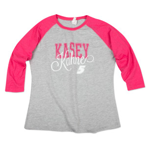 Kasey Kahne #5 Ladies Baseball T-Shirt