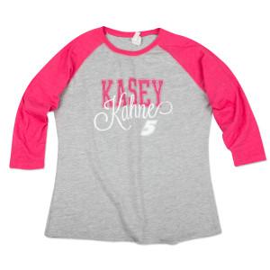 Kasey Kahne #5 Ladies Baseball T-Shirt