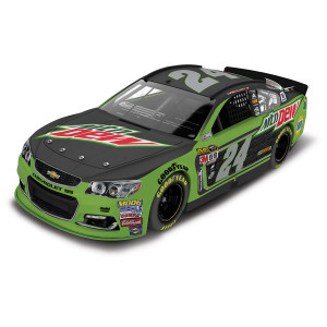 Chase Elliott 2016 #24 Mountain Dew 1:24 Scale AUTOGRAPHED Nascar Sprint Cup Series Die-Cast