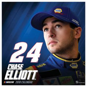 """Chase Elliott #24 2018 12""""x 12"""" Wall Calendar"""