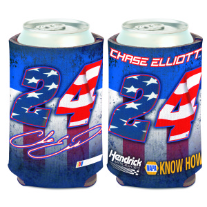 Chase Elliott #24 Patriotic Can Cooler - 12oz