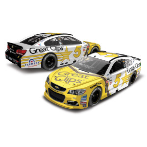 Kasey Kahne 2017 NASCAR Cup Series No. 5 Great Clips Throwback 1:64 Die-Cast