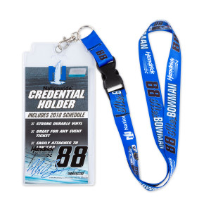 Alex Bowman #88 2018 NASCAR Lanyard with Credential Holder