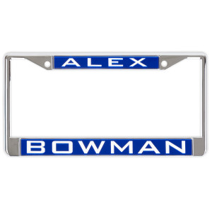 Alex Bowman #88 2018 NASCAR Inlaid Metal License Plate Frame