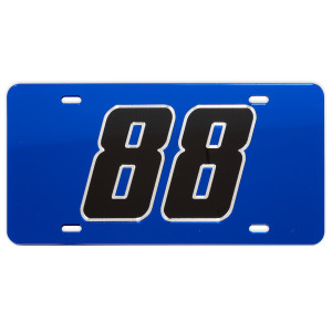 Alex Bowman #88 2018 NASCAR Crystal Mirror License Plate