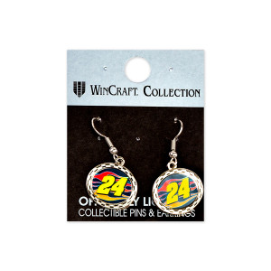 William Byron #24 2018 NASCAR Earrings