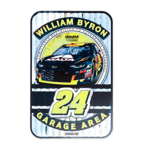 "William Byron #24 2018 NASCAR Plastic Sign - 11"" x 17"""