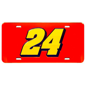 William Byron #24 2018 NASCAR Crystal Mirror License Plate
