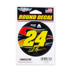 #24 NASCAR William Byron Round Cut Vinyl Decal