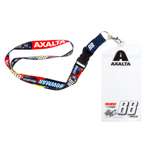 #88 NASCAR Alex Bowman Credential Holder With Lanyard