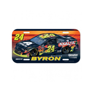 William Byron #24 2020 Axalta License Plate