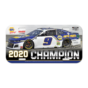 NASCAR 2020 Champion License Plate – Plastic