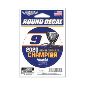 "NASCAR 2020 Champion Round Decal 3"""