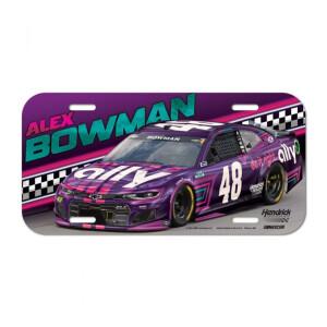 Alex Bowman Acrylic License Plate