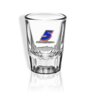 Kyle Larson #5 2021 Saloon Shot Glass (Pewter crest)