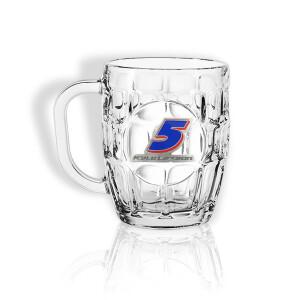 Kyle Larson #5 2021 Dimpled Beer Mug (Pewter crest)