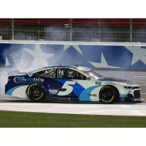 Autographed Kyle Larson Coca-Cola 600 NASCAR RACE WIN 1:24 ELITE Die-Cast