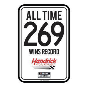 "HMS 269 Wins Record Metal Sign - 12""x18"""