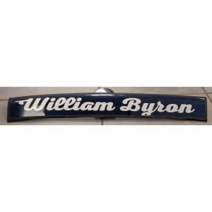 Race Used William Byron #24 Axalta Namerail