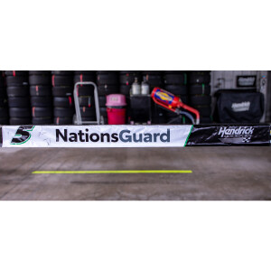 Race Used 2021 Kyle Larson #5 Nation's Guard Pit Wall Banner