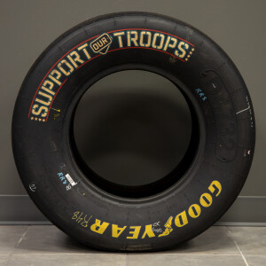 Race Used 2017 Jimmie Johnson #48 Support Our Troops Tire