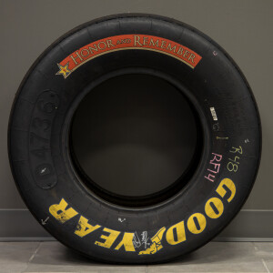 Race Used 2019 Jimmie Johnson #48 Honor and Remember Tire