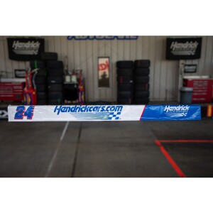 Race Used 2020 William Byron No. 24 Hendrickcars.com Pit Wall Banner