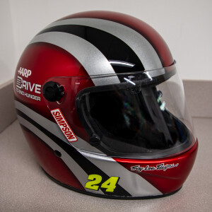 Race Used 2012 No. 24 AARP Drive to End Hunger Fueler Pit Helmet