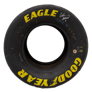 Signed Race Used 2012 Chase Elliott No. 9 Iowa K&N Series First NASCAR Win Tires