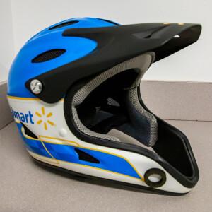 Race Used 2012 No. 50 Walmart Pit Helmet - Bill Elliott's Last Race