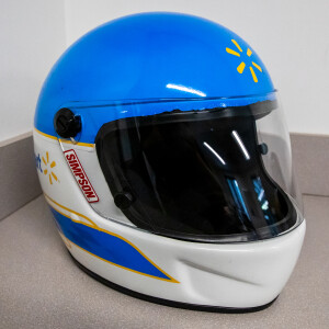 Race Used 2012 No. 50 Walmart Pit Fueler Helmet - Bill Elliott's Last Race
