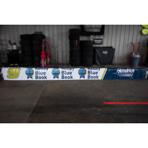 Race Used 2018/2019 No. 9 Kelley Blue Book Pit Wall Banner