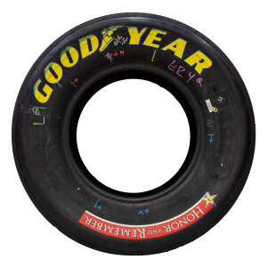 Race Used Chase Elliott 2021 Charlotte Tires - Second Place