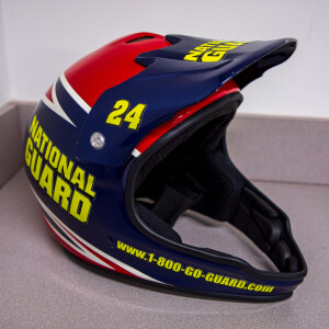 Race Used 2007 No. 24 National Guard Busch Series Pit Helmet